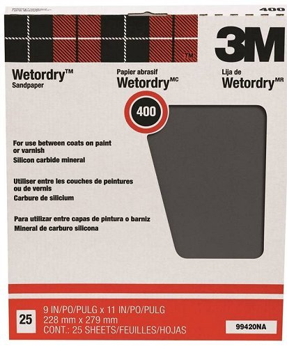 3M Pro-Pak Wetordry Between Finish Coats Sanding Sheets, 400A-Grit, 9-Inch by 11-Inch by 3M - Schleifpapier 3m Wetordry