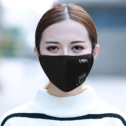PBFONE 1 Stücke Staubmaske Aktivkohlefiltereinsatz Anti Staub Verschmutzung Baumwolle Gesicht Mund Maske PM2.5 Maske für Männer Frauen -