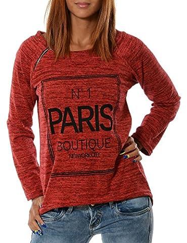 Damen Pullover (weitere Farben) No 13401, Farbe:Rot;Größe:One Size