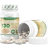 Flohsamenschalen 130 - 130 Kapseln pro Dose - 3000 mg pro Tagesportion - 100% Psyllium Husk - Flohsamen fein gemahlen - Premium Qualität - Vit4ever