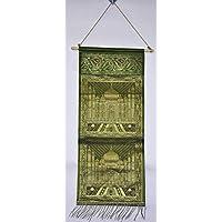Vintage designer Two Pocket Wall Hanging borsa portaoggetti da appendere alla porta