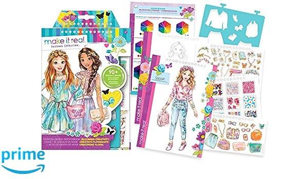 MAKE IT REAL 03202 Fashion Design Sketchbook - Blooming Creativity ...