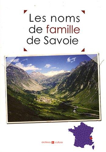 Les noms de famille de la Savoie