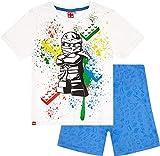 Lego Ninjago Schlafanzug Kollektion 2018 Pyjama 104 110 116 122 128 134 140 Shorty Shortie Jungen Neu Top Weiß-Schwarz (Weiß-Schwarz, 116-122)
