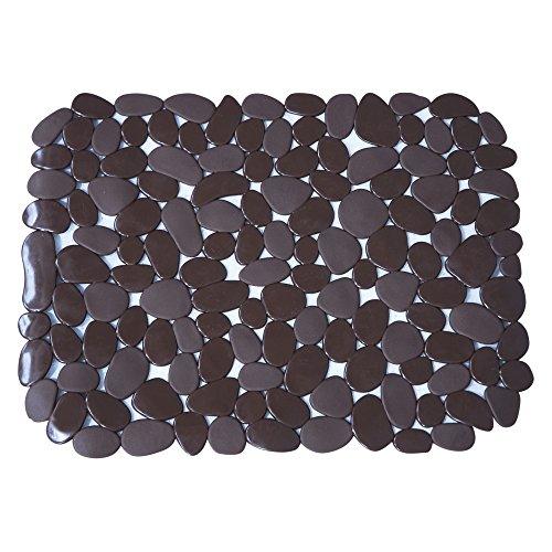 MSV MS713 - Alfombra de PVC para fregadero, color chocolate