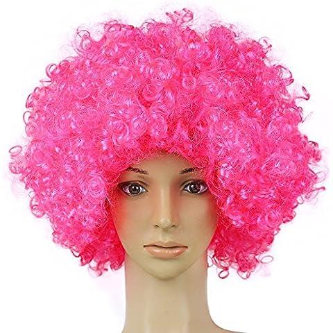 XNWP-G explotar peluca peluca disfraz divertido ventiladores de colores extravagantes pelucas , rosa