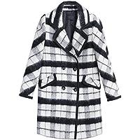 Il cappotto nuovo autunno e modo di inverno signore di lana era strato sottile di (Tamburo Con Collare)