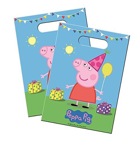 Folat Riethmüller Lot de 8sachets de fête Peppa Pig * pour Anniversaire d'enfant et fête à thème//Wutz