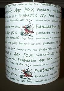 Roald Dahl–Fantastic Mr Fox–Abat-jour–pour enfant/bébé–fabriqué au Royaume-Uni