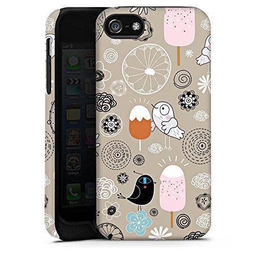 Apple iPhone 4 Housse Étui Silicone Coque Protection Les oiseaux aiment les glaces Glace Glace Cas Tough terne