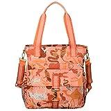 Oilily Wickeltasche Sahara Zoo Shopper Baby Bag Pink Flamingo Damen Umhängetasche, Schultertasche