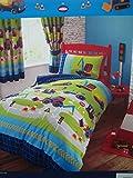 Diggers, Tractors & Trucks Junior / Cot Bed Duvet Cover Set Including Pillowcase - 120cm x 150cm