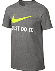 Nike Jdi Swoosh Tee Yth Camiseta de Manga Corta, Niños, Gris (Dk Grey Heather), S