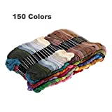 Rrimin Polyester Embroidery Thread Hand Cross Stitch Floss Sewing Skeins Craft (150 Colors)