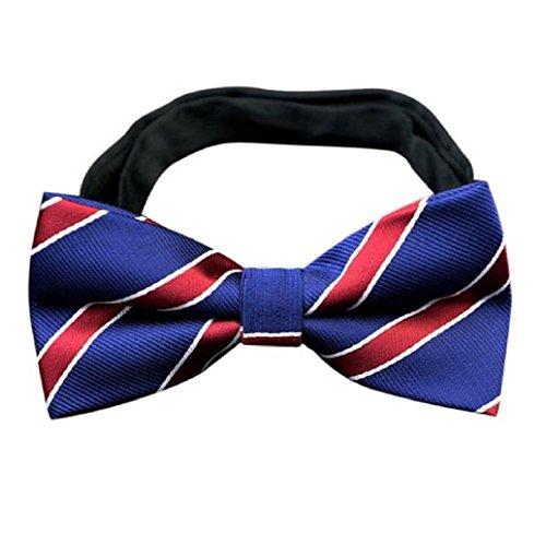 Tonsee Herren Schmetterling Cravat Bowtie Hochzeit Bogen Handelsbeziehungen Cravats Zubehör (blau 1) (Schmetterling Seide Tie)