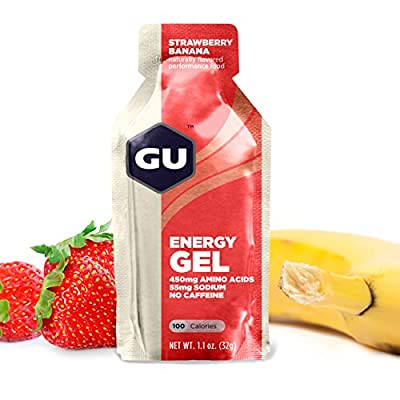 GU Energy Gel, Strawberry Banana (Erdbeer Banane), 1er Pack (1 x 768 g)