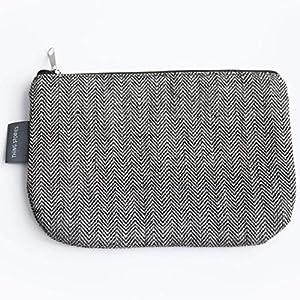 Kleine Schwarze Leinwand Kosmetiktasche - Doppellagige 100% Leinen - Kupplung - Geldbeutel - Taschen und Portemonnaies - Frauen Geldbeutel - Gewebetasche | Handgefertigte durch ThingStories
