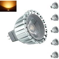Bonlux 5-Lampada a LED, 12 V, Mr16, angolo fasci di luce: 60 gradi LED-Faretto LED, GU5,3, 6000 k equivalente a 50 W, luce diurna per Recessed Track, orizzontale (paesaggi), motivo: Illuminazione 6.00 wattsW, 12.00 voltsV