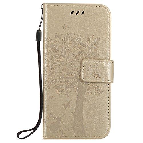 Nancen Tasche Hülle für HTC One M9 (5 Zoll) Flip Schutzhülle Zubehör Lederhülle mit Silikon Back Cover PU Leder Handytasche im Bookstyle Stand Funktion Kartenfächer Magnet Etui Schale