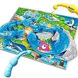 YE XING Wasserkanalsystem Waterplay Set Angelspiel Spielzeug Enthält 4 Fische und 2 Fischkiemen für Kinder Jungen & Mädchen