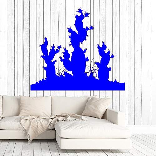 zhuziji Kaktus Wüstenpflanze Wandtattoos Wohnzimmer Wohnkultur Vinyl Aufkleber Wandbilder Innenwandkunst Tapete Einzigartiges Geschenk Ne 888-2 63 cm x 56 cm