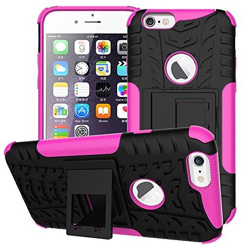 """WindCase iPhone 7 Coque, Housse Robuste de Sport, Protection de Double Couche d'Armure Lourde Case avec Béquille pour iPhone 7 4.7"""" Rose Rose"""