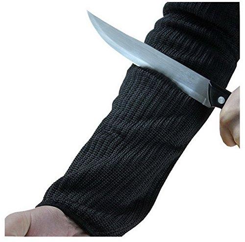ACMEDE Sleeve Armschutz Unterarmschütze Anti Schnitt Brennen Resistent Arm Sleeve 1 Paar Schwarz 38mm eine Größe
