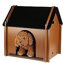 EBTOOLS Casa de Madera Interior Plegable para Mascotas Refugio de Mascotas para Perros Gatos No Tóxico