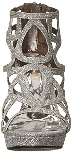 Report Rocko Damen Synthetik Sandale Silver Shimmer