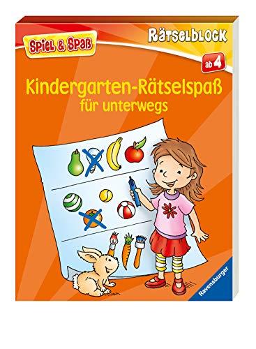 Kindergarten-Rätselspaß für unterwegs (Spiel & Spaß - Rätselblock) (Unterwegs-spiele Für Kinder)