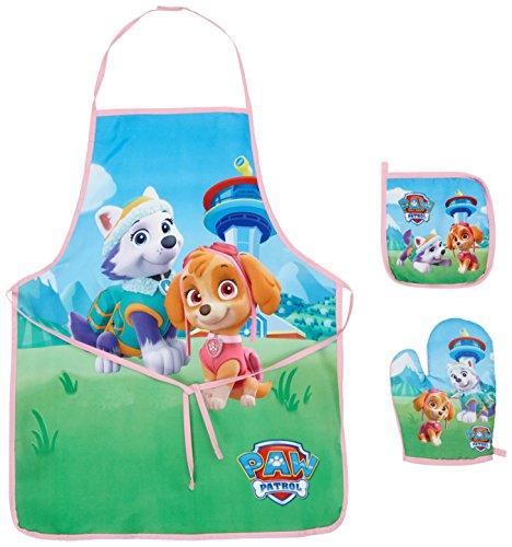 Paw patrol set da cucina per bambini con grembiule, guanto e presina, sun city ppb101864