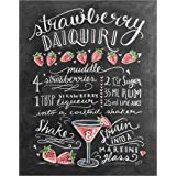 Leinwandbild 40 x 50 cm: Erdbeer-Daiquiri Rezept von Lily & Val / MGL Licensing - fertiges Wandbild, Bild auf Keilrahmen, Fertigbild auf echter Leinwand, Leinwanddruck
