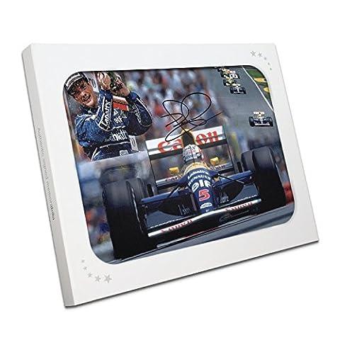 Nigel Mansell Signé Photo: 1992 Champion du Monde. Dans Gift