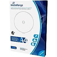 MediaRange Labels for cd|dvd|bd, 15–118mm, de alta Glossy, pack 100