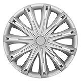 14 Zoll Radzierblenden SPARK SILVER (Silber). Radkappen passend für fast alle OPEL wie z.B. Corsa C