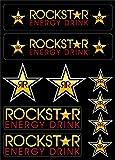 Youdesign 1Tabla de 10Adhesivos Pegatinas Rockstar Energy