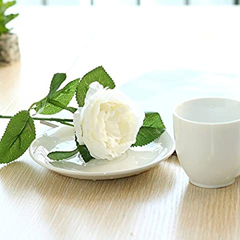 10 Pcs Artificial Silk Rose Flower European High-grade Silk Home