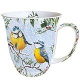 Porzellan Becher Bone China, Mug, Tasse, Fuer Tee Oder Kaffee ca. 0,4L Chirping Birds - Vogel Ideal Als Geschenk