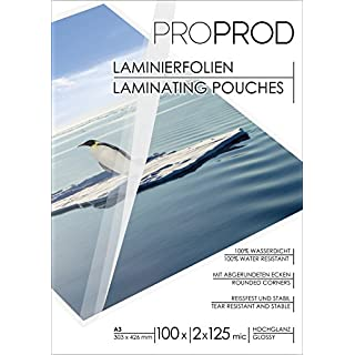 ProProd Premium A3 250 μ Glossy Laminating Pouch (Pack of 100)