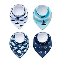 Gocrown 4 Pack Puppy Bandana Funny Navigation Style Small Pet Dog Cat Signature birthday bandana Triangle Scarf Bibs with Soft Cotton Material for Puppy Accessories
