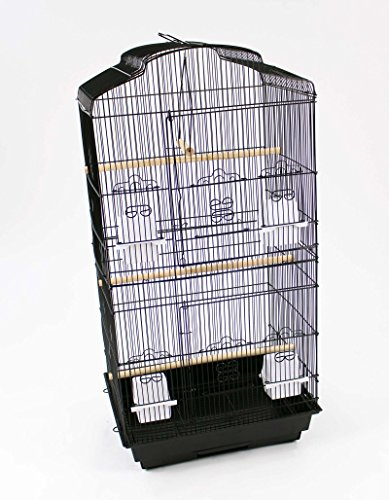 Easipet Large Metal Bird Cage for Budgie, Cockatiel, Lovebirds etc (Black) 9