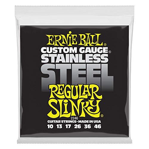 Cuerdas de guitarra eléctrica de cuerda de acero inoxidable Slinky Ernie Ball...