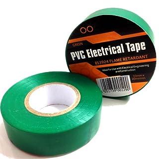 1 x GREEN ELECTRICAL PVC INSULATION / INSULATING TAPE 19mm x 20m - FLAME RETARDANT