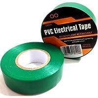 10x verde eléctrico aislamiento de PVC/cinta aislante 19mm x 20m–retardante de llama
