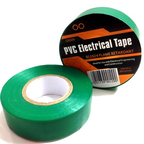 1-x-green-electrical-pvc-insulation-insulating-tape-19mm-x-20m-flame-retardant