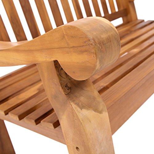 Trueshopping Kingsbridge Garten Bank – Teak Holz Klassische Design Zwei Sitzbank - 6