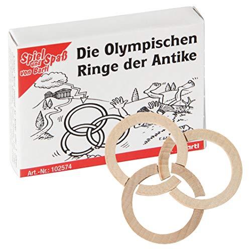 Bartl 102574 Mini-Holz-Puzzle Die Olympischen Ringe der Antike aus 6 kleinen Holzteilen - Olympischen Die Antiken Spiele