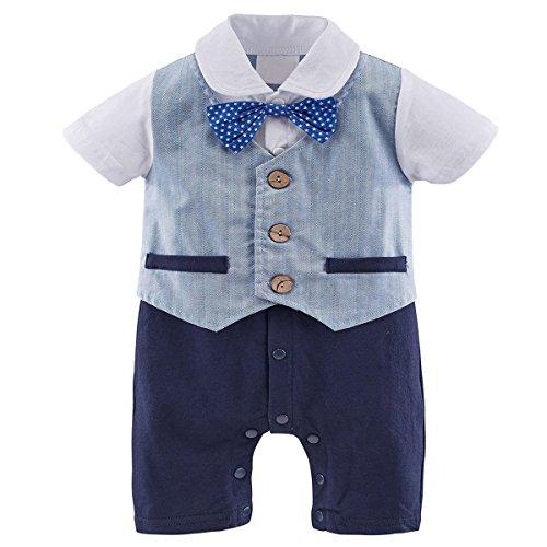 en Gentleman Kostüm Strampler mit Krawatte (Blau, 12-18 Monate) (Baby Kostüme 12 18 Monate)