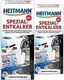 Heitmann Kaffeevollautomaten Entkalker: Kalklöser für Kaffeemaschinen, Espressomaschinen, Padmaschinen - Kalk-Entferner auf 100% naturidentische Wirkstoffe- 2 x 250 ml