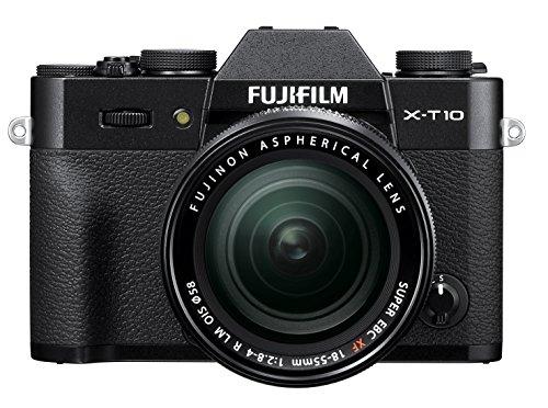 Fujifilm X-T10 Black Mirrorless Digital Camera Kit with XF 18-55mm F2.8-4.0 R LM OIS Lens